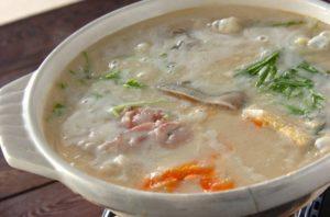 鳥と鮭の酒粕鍋