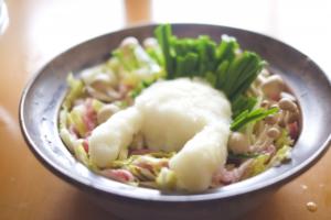 豚バラと白菜の酒粕蒸し